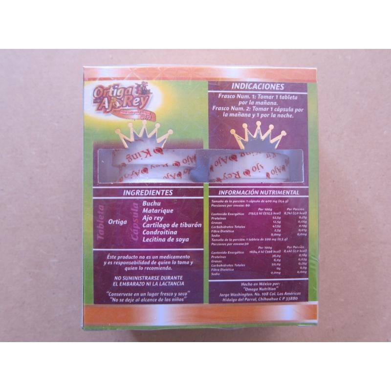Paquete de 4 cajas de Ajo King con Omega 3, 6 y 9 la Original, HECHO EN MEXICO