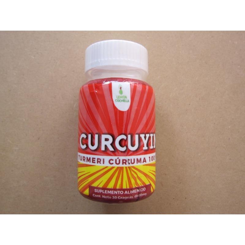 Paquete de 4 curcuyin Curcuma Cúrcuma